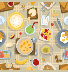 healthy eating breakfast lunch meal concept with vector image