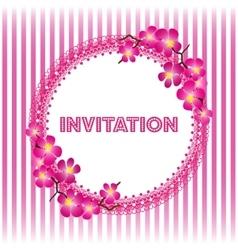 Invitation vintage card with beautiful sacura vector