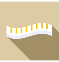 Measuring striped tape icon flat style vector image