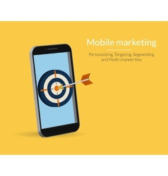 Mobile marketing vector image vector image