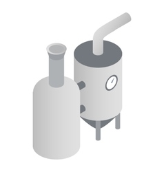 Modern brewery icon isometric 3d style vector