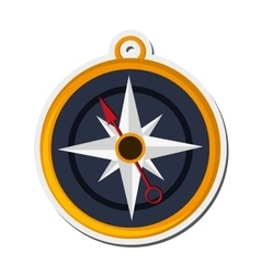 Navigation compass icon vector