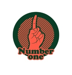 Number one finger sign Finger up gesture icon vector image