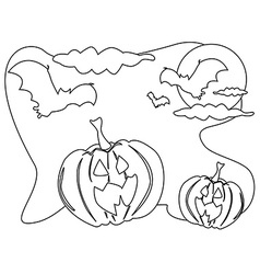 Outline of halloween background vector