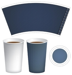paper cup for hot drink vector image vector image