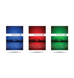 Prospectus blue red green group vector