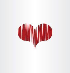 scratched heart icon symbol vector image