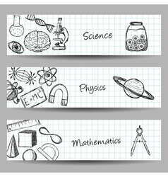 Set of Science Banners vector image