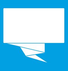 Square banner icon white vector
