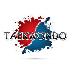 taekwondo font vector image