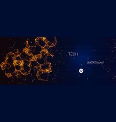 Technological banner vector