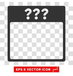 Unknown calendar page eps icon vector