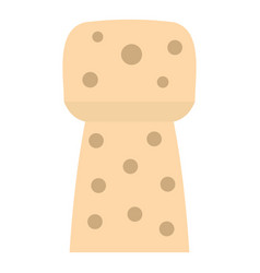 Wine wooden cork icon isolated vector
