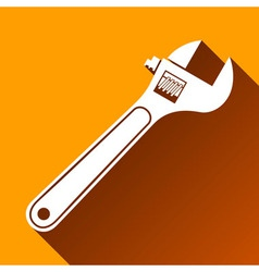 Wrench Icon Long Shadow vector image vector image
