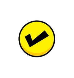Yes checklist video game asset menu icon button vector