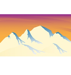 Ice mountain sunshine vector