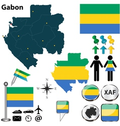 Gabon map vector