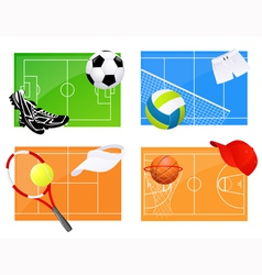 Sport backgrounds vector