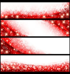 Red Christmas Banners vector image