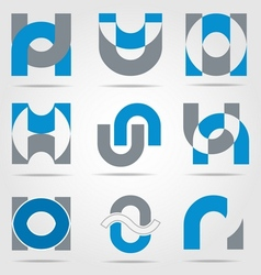Abstract business icon collection vector