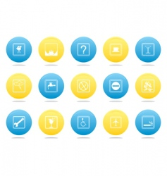 Badges on buttons vector