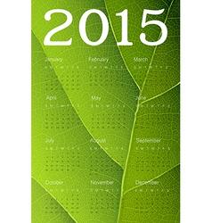 ecology themed calendar 2015 vector image