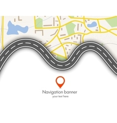 Abstract navigation banner vector