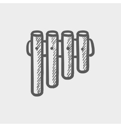 Vibraphone sketch icon vector