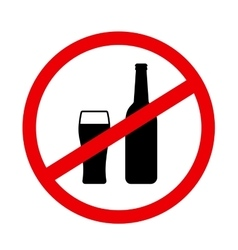 Sign stop alcohol with beer vector