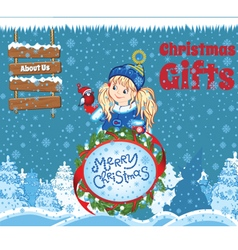 Kid Christmas Template vector image
