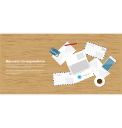 Business correspondence vector
