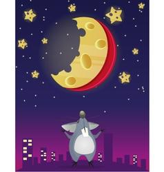 Cheese night vector image