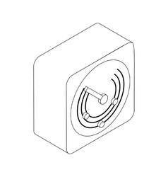 Radio location icon isometric 3d style vector