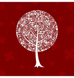 Tree medicine vector image