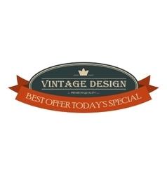 Best offer oval vintage banner vector