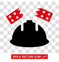Brick helmet accident eps icon vector