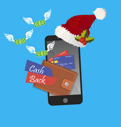 Christmas money cashback vector