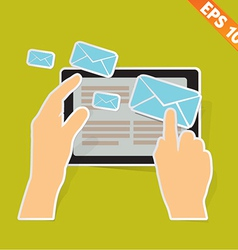 email communication - - EPS10 vector image