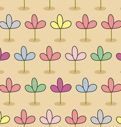 Flowers on a bed Garden Seamless floral pattern vector image vector image