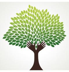 green hand stock vector image vector image