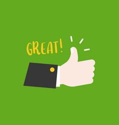 hand thumps up vector image