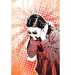 headphones guy vector image vector image