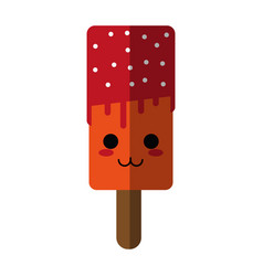 kawaii ice cream with sprinkles icon image vector image