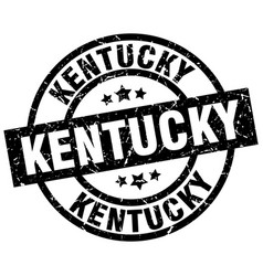 kentucky black round grunge stamp vector image