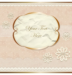 Lacy vintage border with flowers vector image