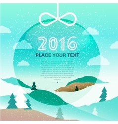 Merry Christmas 2016 background vector image vector image