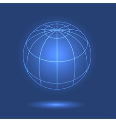 Model of globe vector image