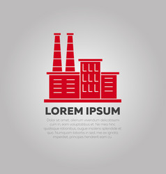 Red factory logo design - industry logo template vector