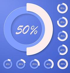 Set of infographic diagram percent circles vector
