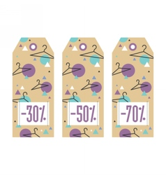 Set of sale tags different values discount vector